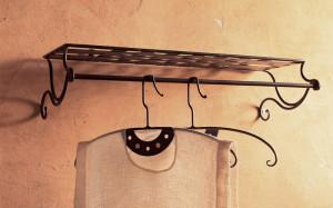 appendiabiti cappelliera ferro battuto