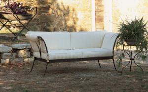 divano esterno ferro