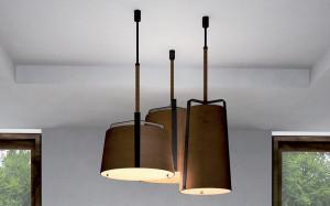 lampade soffitto ferro cuoio