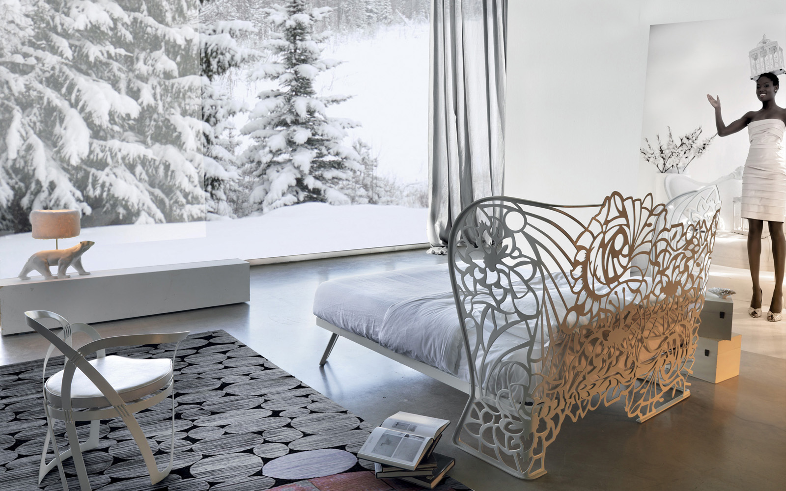 letto traforato moderno - Letti in ferro battuto CAPORALI \
