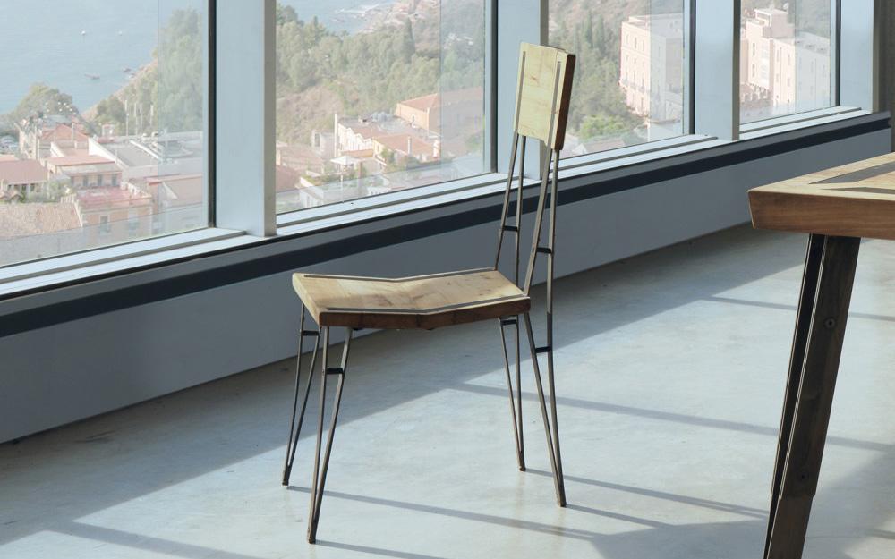 Sedie legno ferro letti in ferro battuto caporali il for Sedie ferro legno