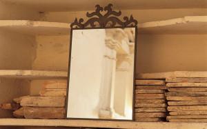 specchiera ferro battuto