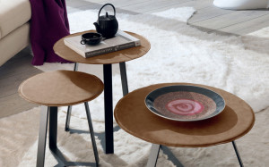tavolini moderni ferro pelle