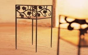 tavolino ferro battuto