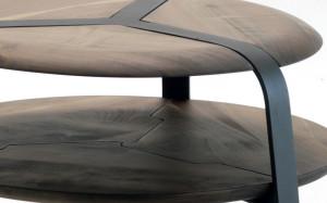 tavolino rotondo ferro legno