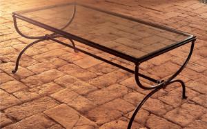 tavolino salotto ferro battuto